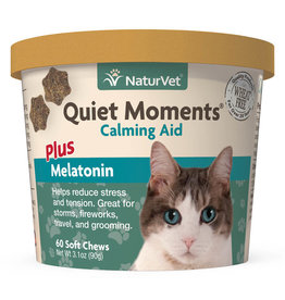 naturVet Naturvet Cat Quiet Moments Calming Aid Chew 60ct