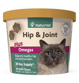 naturVet NaturVet Cat Hip & Joint plus Omegas Chew 60ct