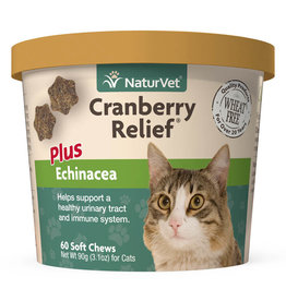 naturVet NaturVet Cat Cranberry Relief plus Echinacea Chew 60ct