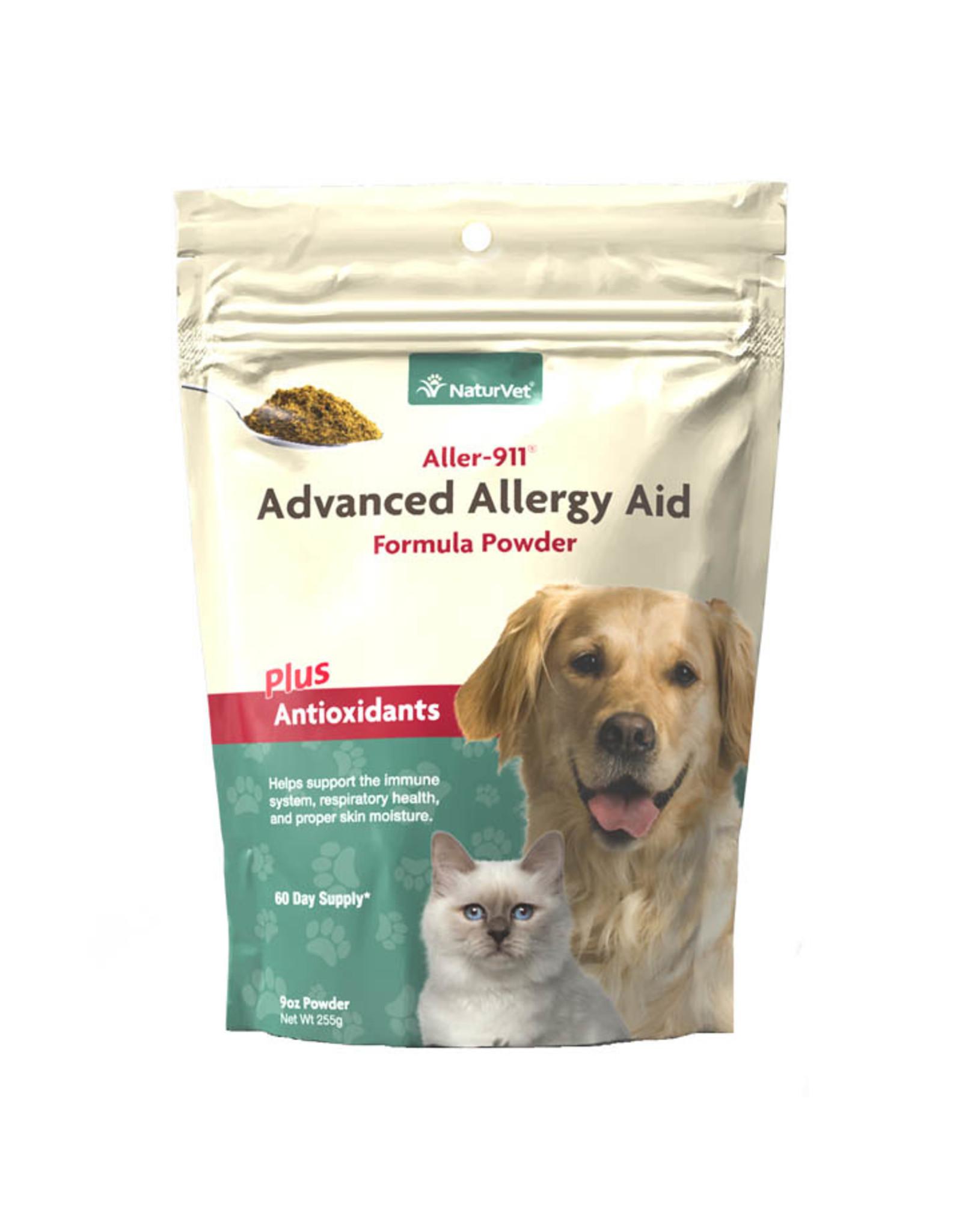 naturVet NaturVet Aller-911 Allergy Aid Skin and Coat plus Antioxidants Powder for Dogs and Cats 9oz