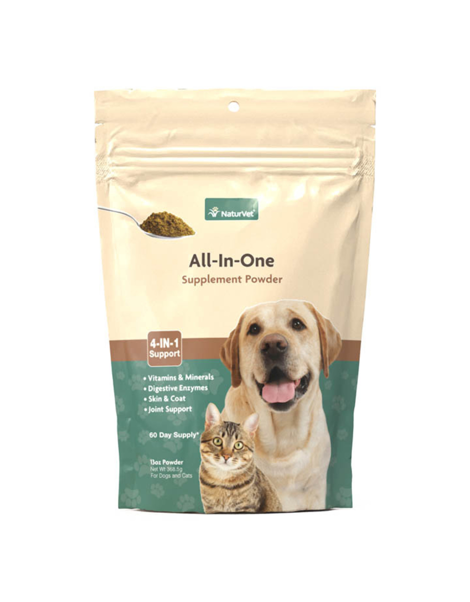 naturVet NaturVet All In One Supplement Powder for Cats and Dogs 13oz