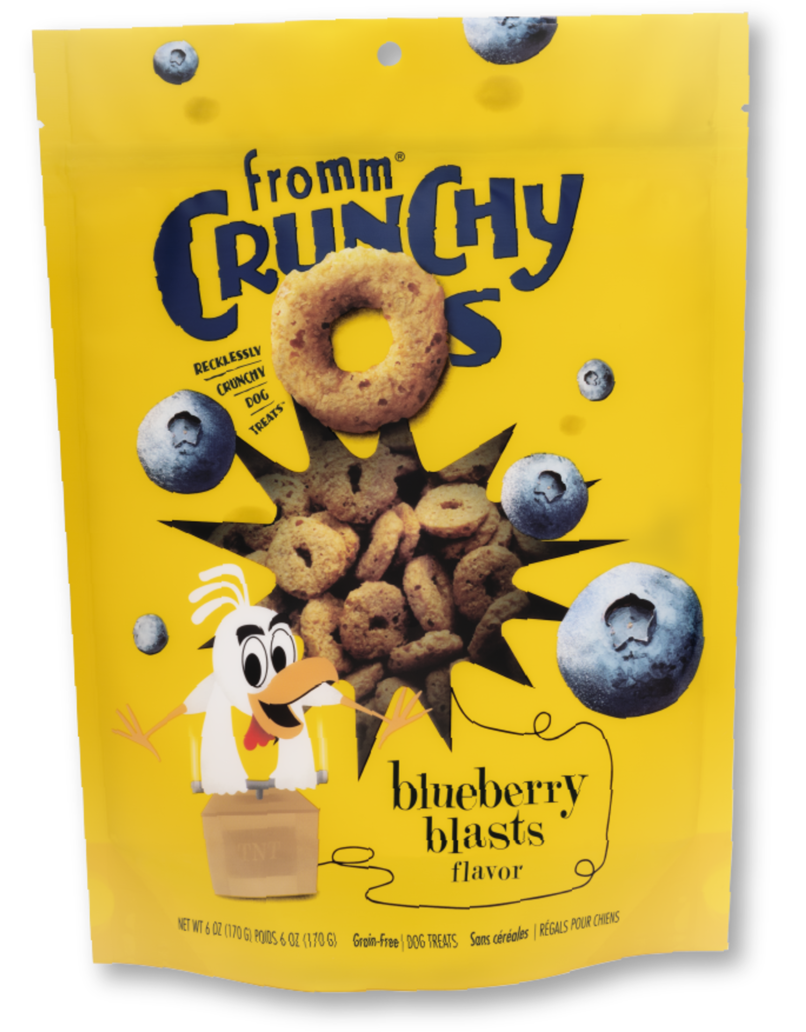 Fromm Fromm Crunchy O's Blueberry Blasts Dog Treats 6oz Grain Free