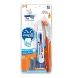 Nylabone Cat Dental Kit with Toothbrushes & Toothpaste