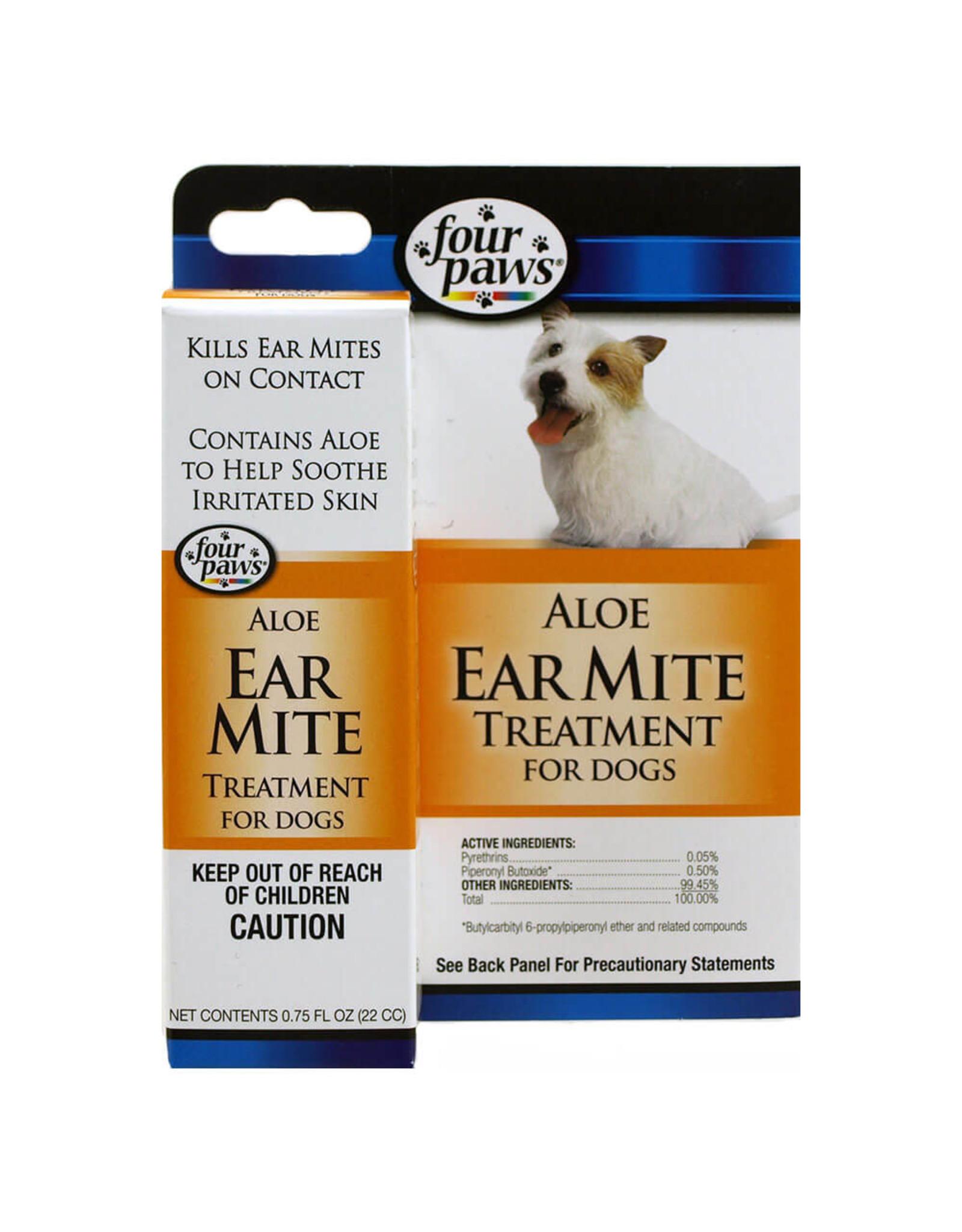 Four Paws Four Paws Aloe Ear Mite Treatment for Dogs .75oz