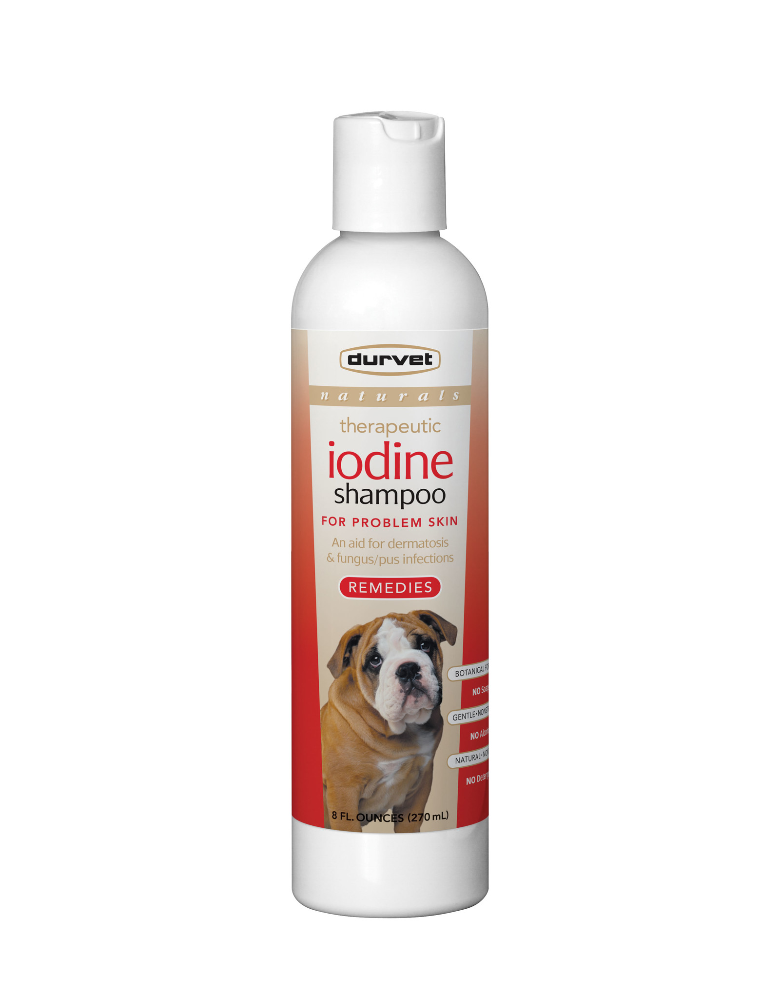 Durvet Durvet Naturals Remedies Iodine Dog Shampoo 8oz
