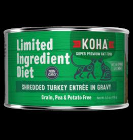 Koha Koha Cat Can LID Shredded Turkey 5.5oz