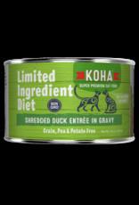 Koha Koha Wet Cat Food Limited Ingredient Diet Shredded Duck Entree in Gravy 5.5oz Can Grain Free