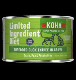 Koha Koha Cat Can LID Shredded Duck 5.5oz
