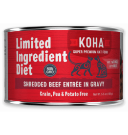 Koha Koha Cat Can LID Shredded Beef 5.5oz