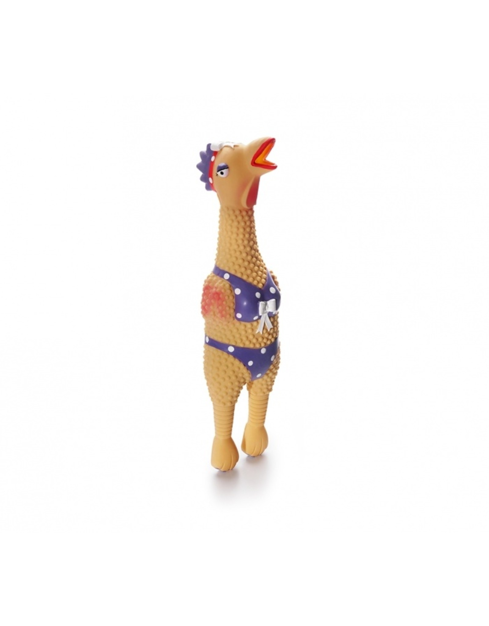 Squawkers Natural Latex Rubber Chickens Large Dog Toy