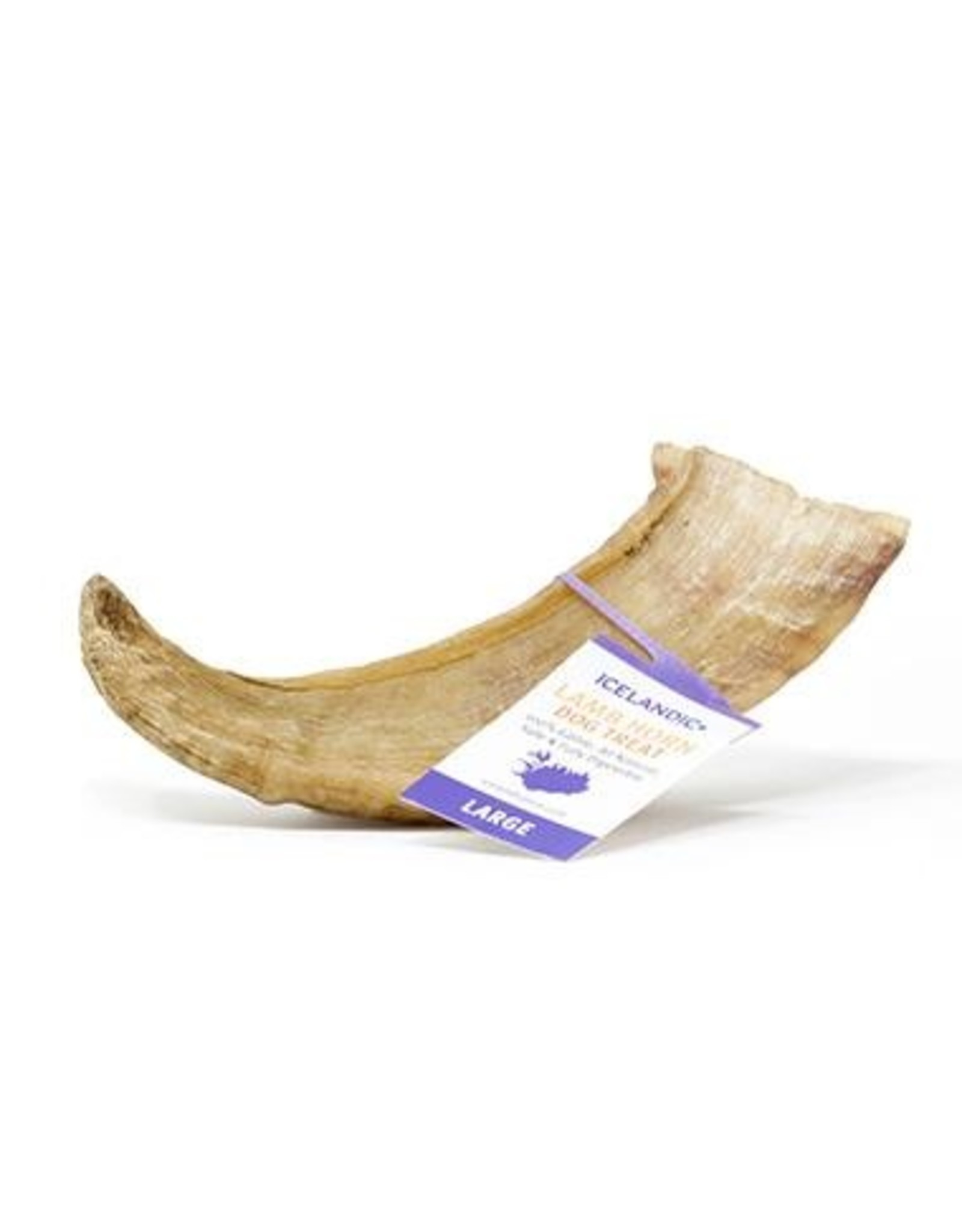 Icelandic Lamb Horn Large Dog Chew