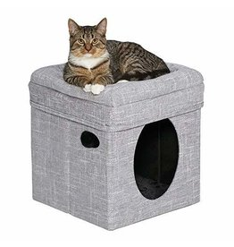 Midwest Homes for Pets Curious Cat Cube Silver Mesh