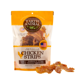 Earth Animal Earth Animal Chicken Strips Plain 8oz