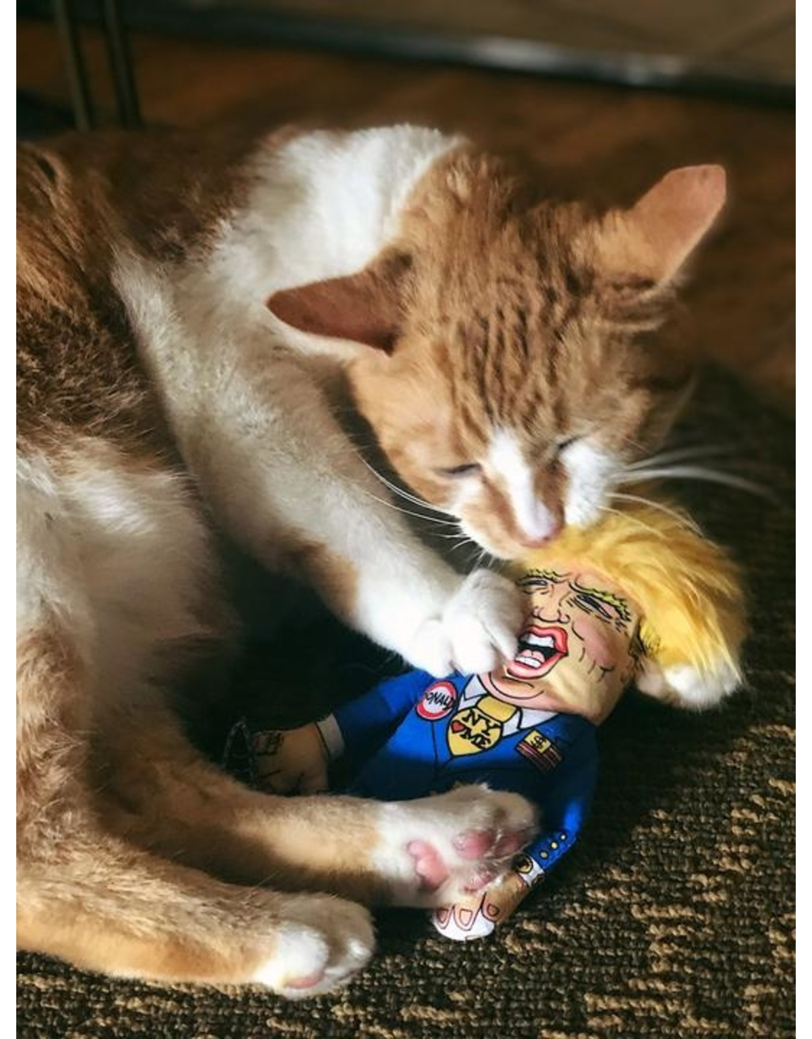 Fuzzu Fuzzu Presidential Parody Donald Trump Catnip Cat Toy