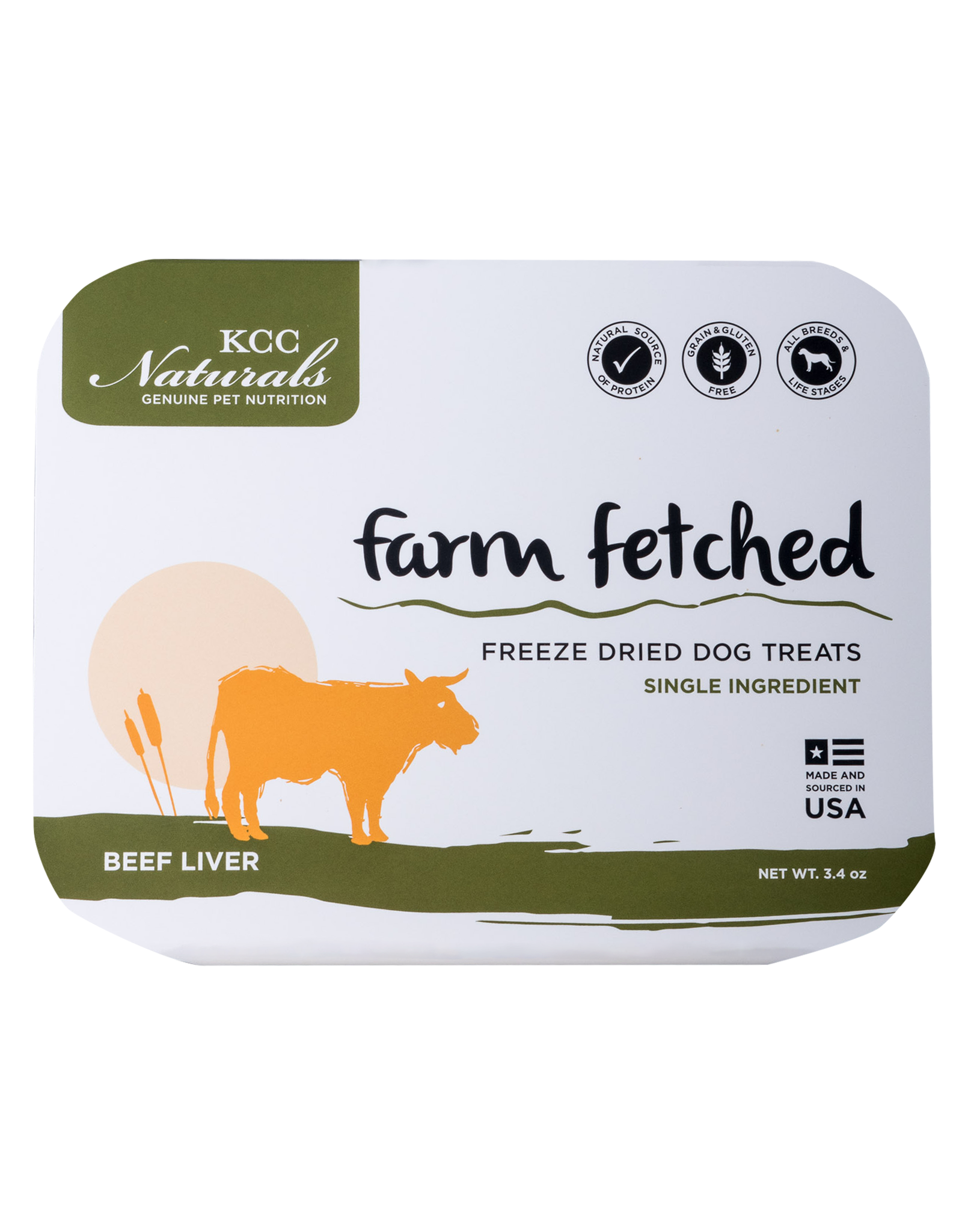 KCC KCC Naturals Farm Fetched Freeze Dried Beef Liver Dog Treat 3.4oz