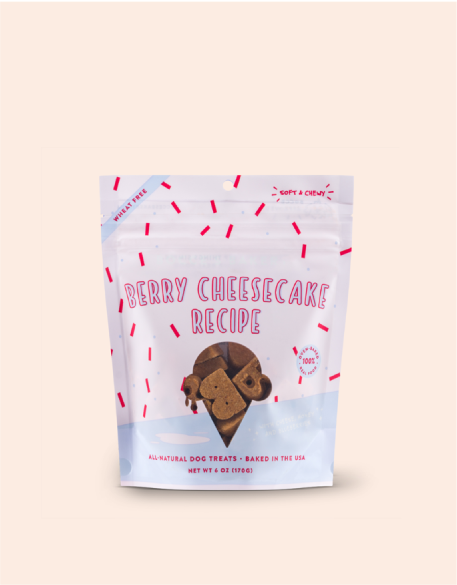 Bocce's Berry Cheesecake Soft Dog Treats 6oz