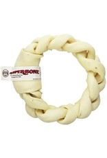 Super Bone Super Bone Braided Rawhide Donut Dog Chew