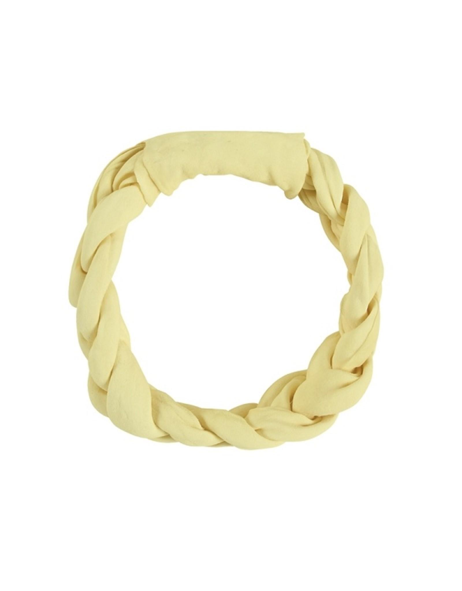 Braided Vanilla Rawhide Ring 5in