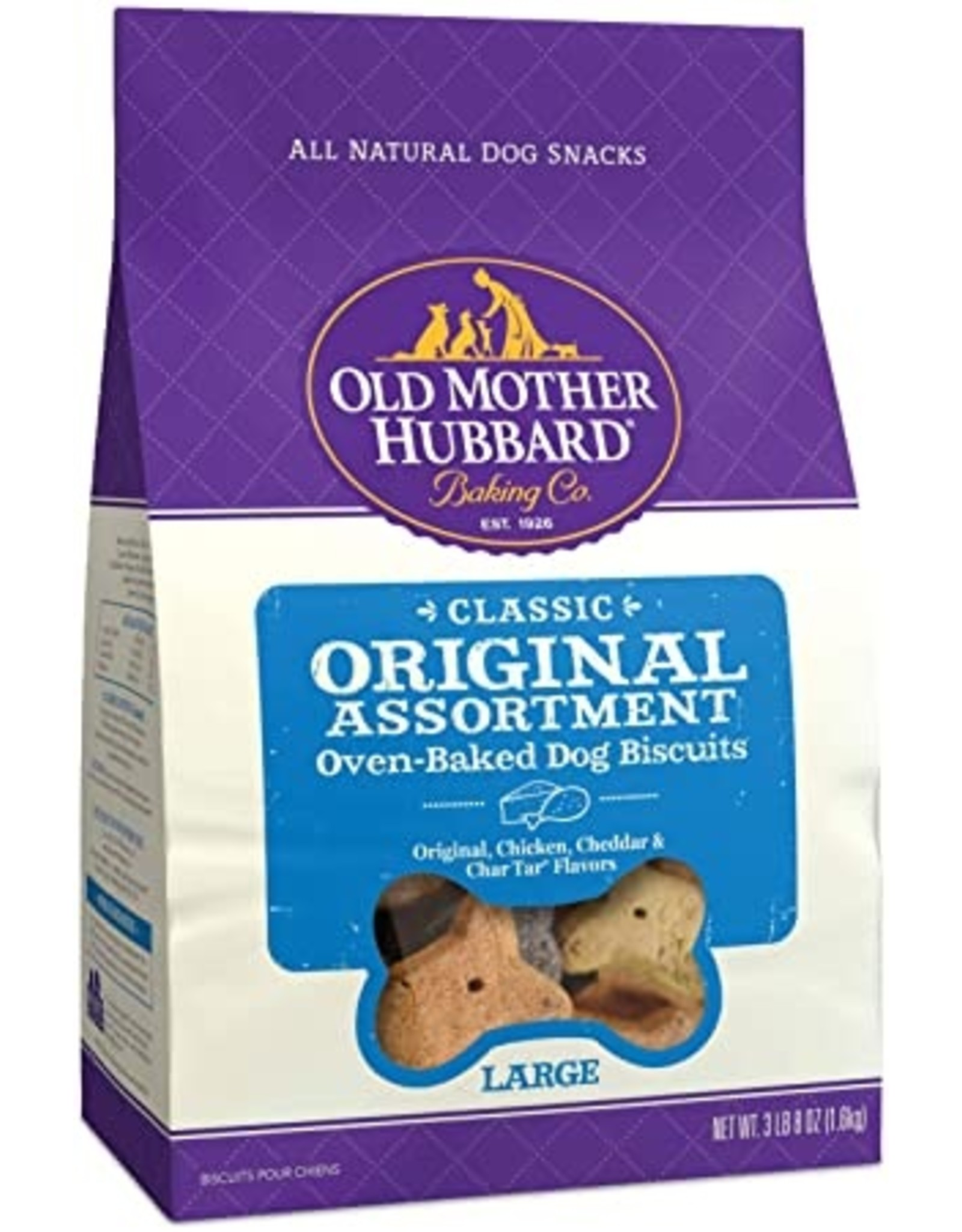 Old Mother Hubbard Old Mother Hubbard Classic Original Assortment Oven Baked Dog Biscuits Large 3lbs - Original, Chicken, Cheddar, Char-Tar
