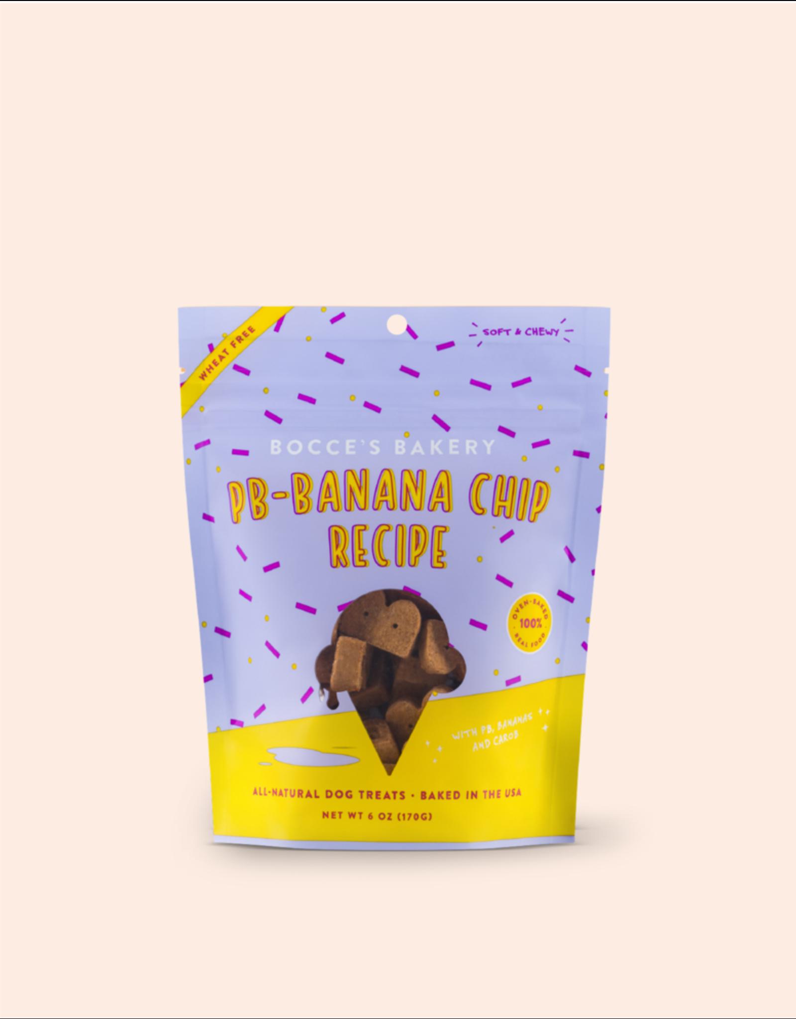 Bocce's Peanut Butter Banana Chip Soft Dog Treats 6oz