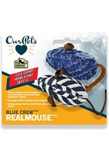 OurPets Blue Crew Realmouse Cat Toy with Play-N-Squeak Sound and Catnip 2pk