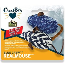 Cosmic Pet Blue Crew Realmouse Cat Toy with Sound 2pk