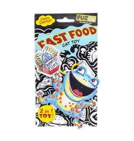 Fuzzu Fuzzu Fast Food Frog & French Flies Cat Toy