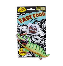 Fuzzu Fuzzu Fast Food Gator & Pizza Cat Toy