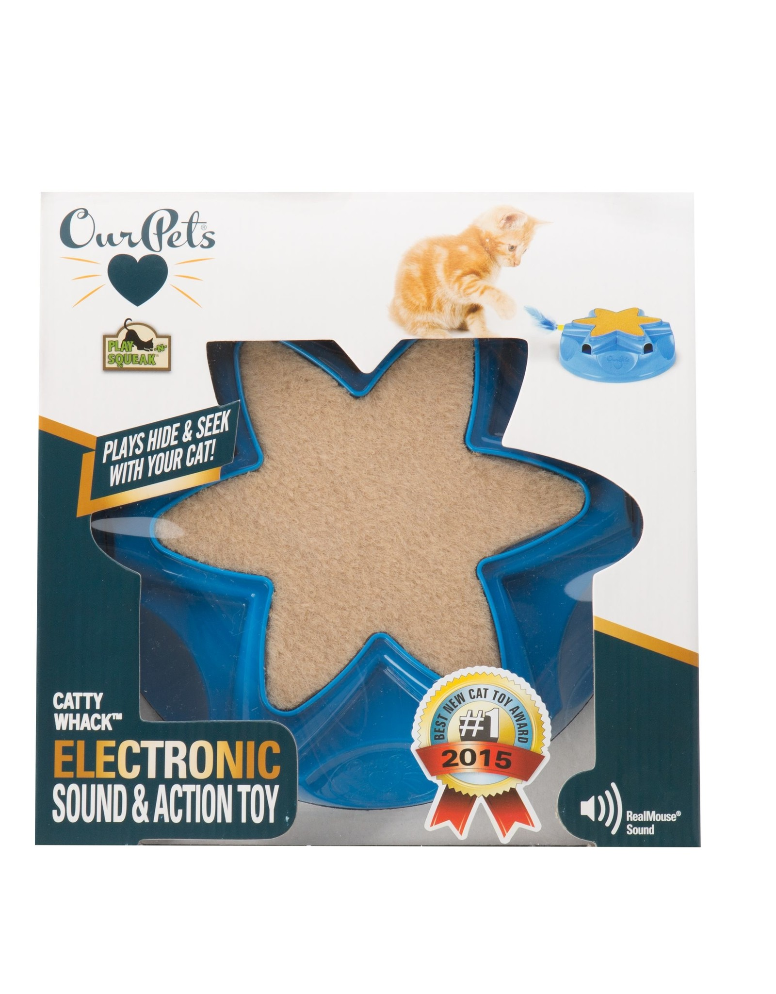 OurPets by Cosmic OurPets Catty Whack Electronic Hide & Seek Cat Toy