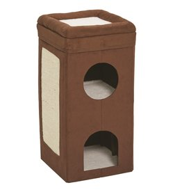 Midwest Homes for Pets Curious Cat Condo Brown Suede