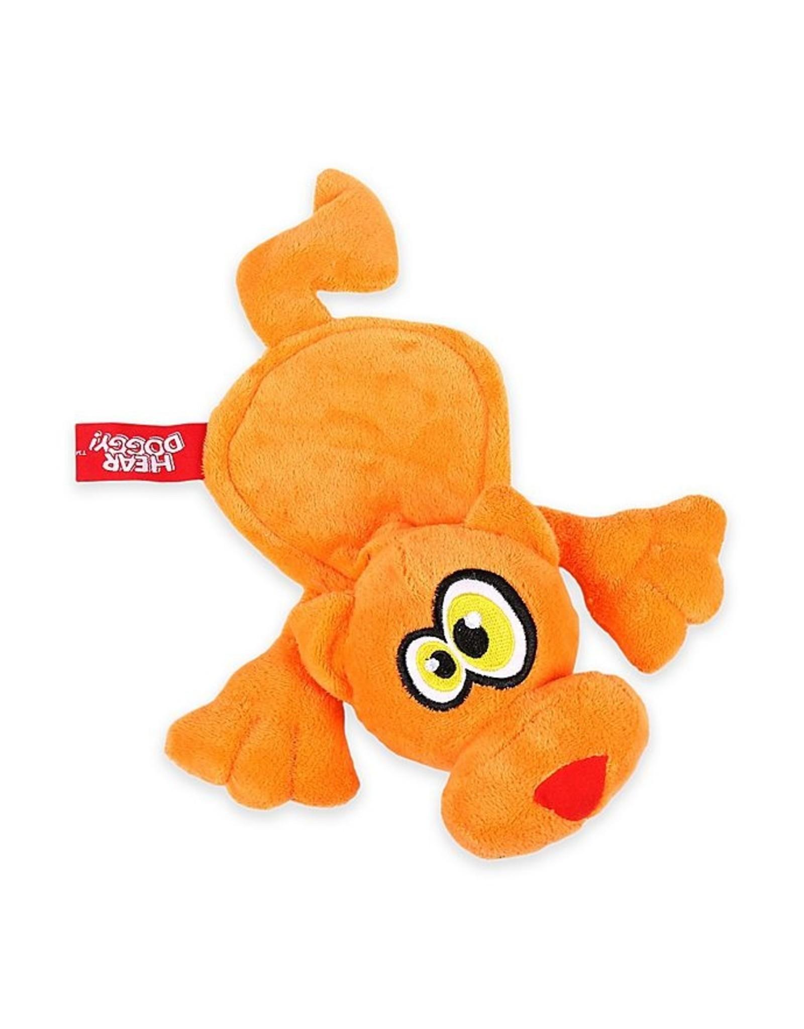 Go Dog Go Dog Hear Doggy Ultrasonic Squeaker Orange Cat Dog Toy