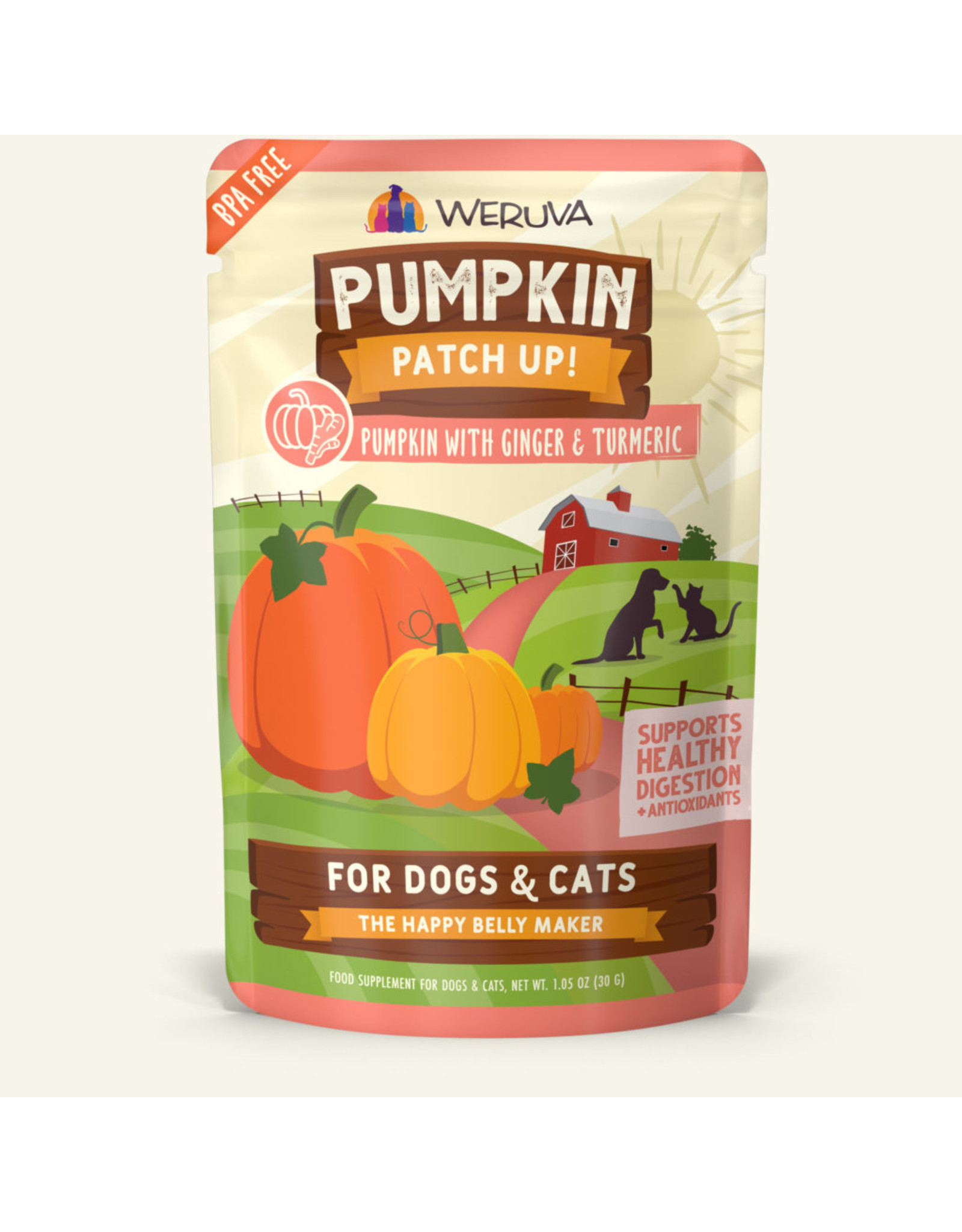 Weruva Weruva Pouch Pumpkin Patch Up Pumpkin Puree plus Ginger & Turmeric Food Supplement