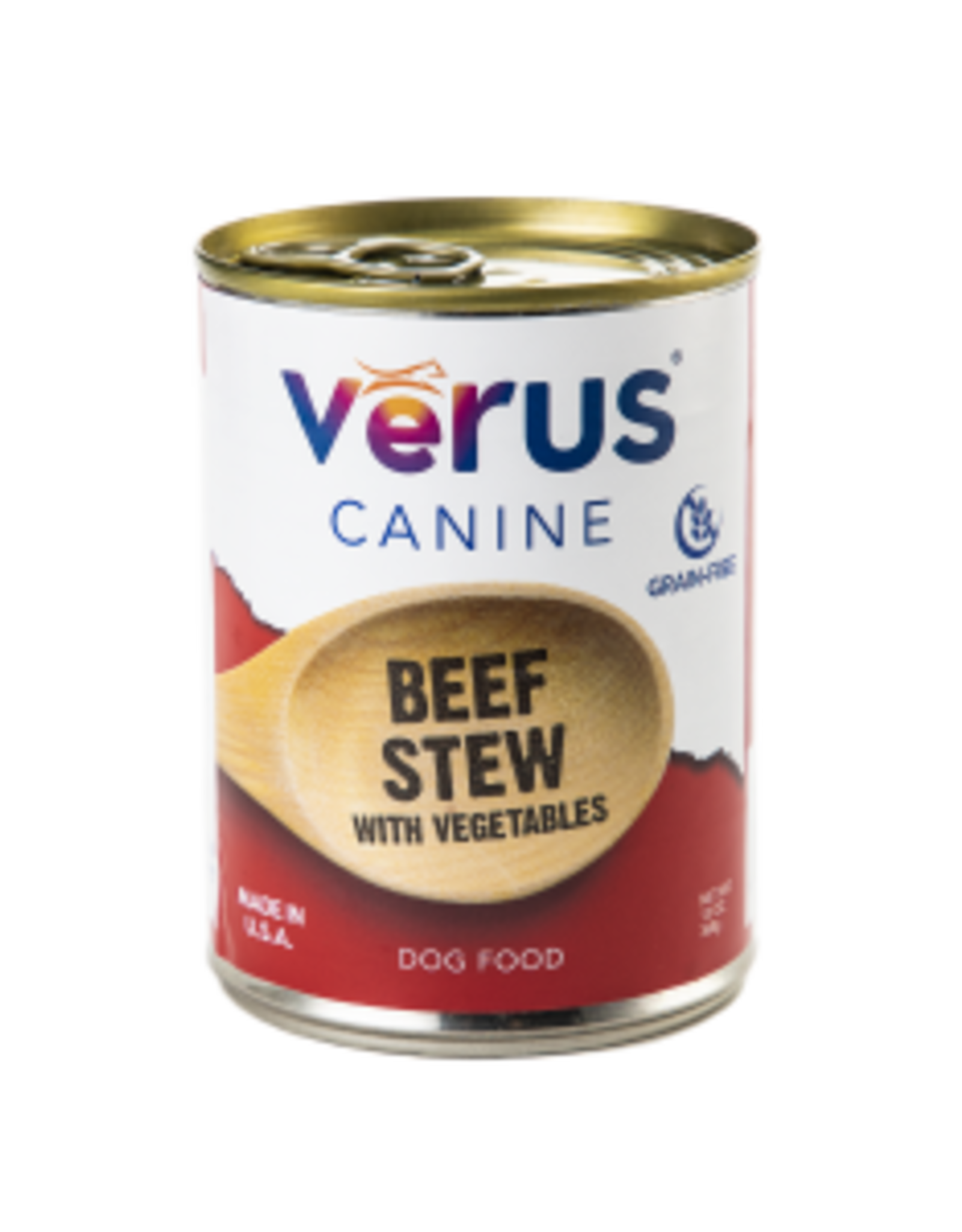 Verus Wet Dog Food Beef Stew with Vegetables Formula 13oz Can Grain Free