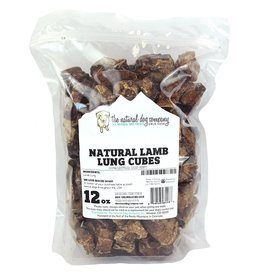 Natural Dog Lamb Lung Cubes 12oz