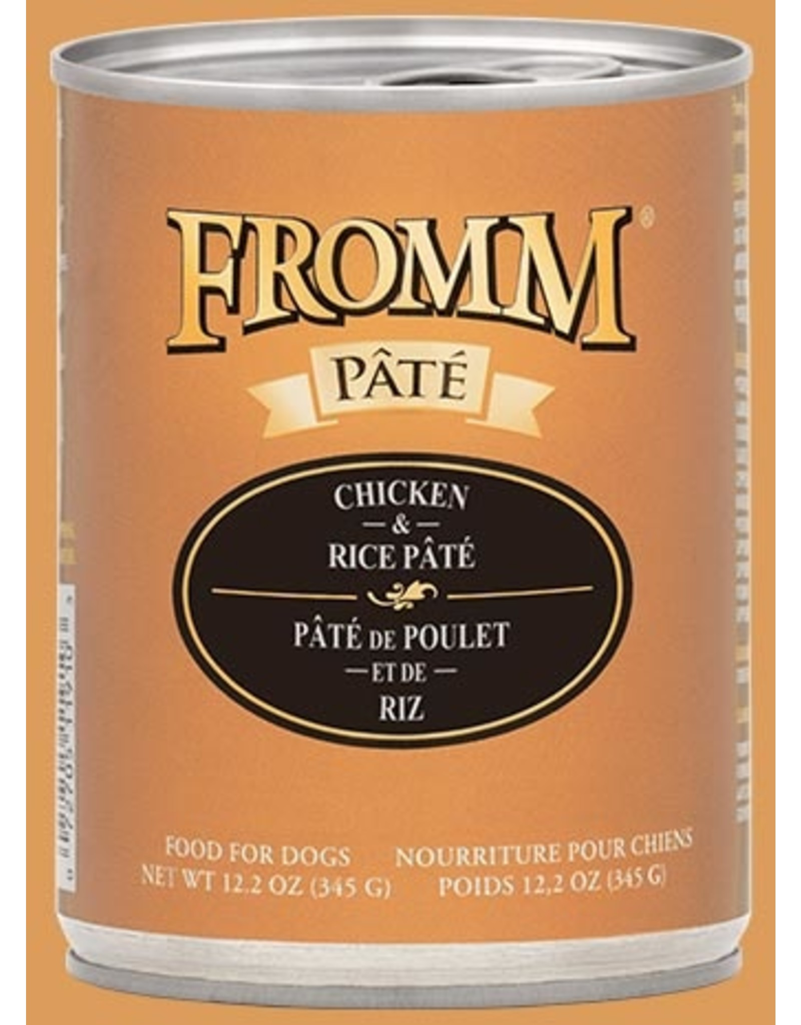 Fromm Fromm Wet Dog Food Chicken & Rice Pate 12.2oz Can Grain Inclusive