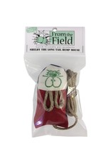 From the Field From the Field Shelby the Long Tail Natural Hemp Mouse with Catnip Cat Toy