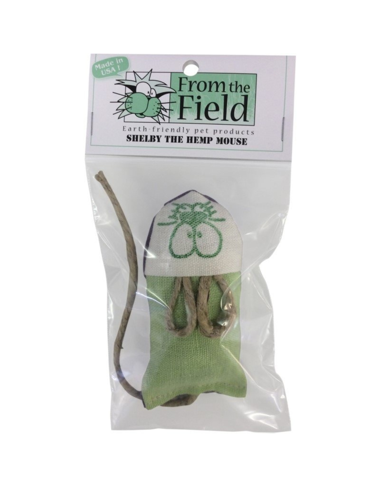 From the Field From the Field Shelby the Hemp Mouse Cat Toy with Catnip