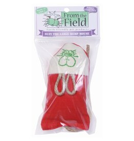 From the Field Suzy Large Hemp Mouse Cat Toy w/ Silver Vine & Catnip
