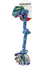 Mammoth Flossy Chews 3 Knot Medium Dog Toy Tug Rope 20in