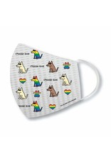 Teddy The Dog Teddy the Dog Face Mask Choose Love Pride Pattern