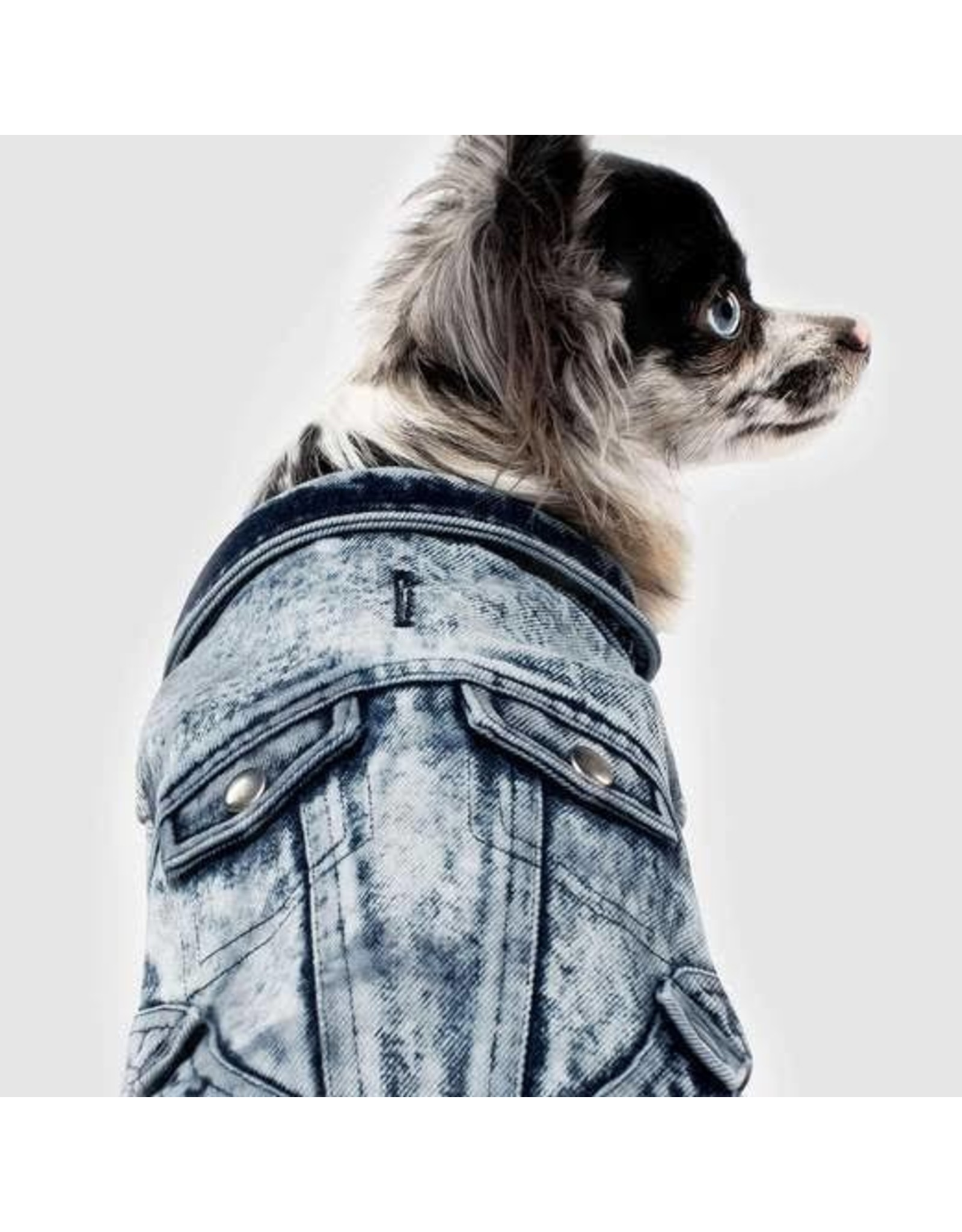 Canada Pooch Canada Pooch Downtown Blue Denim Jean Vest for Dogs and Cats