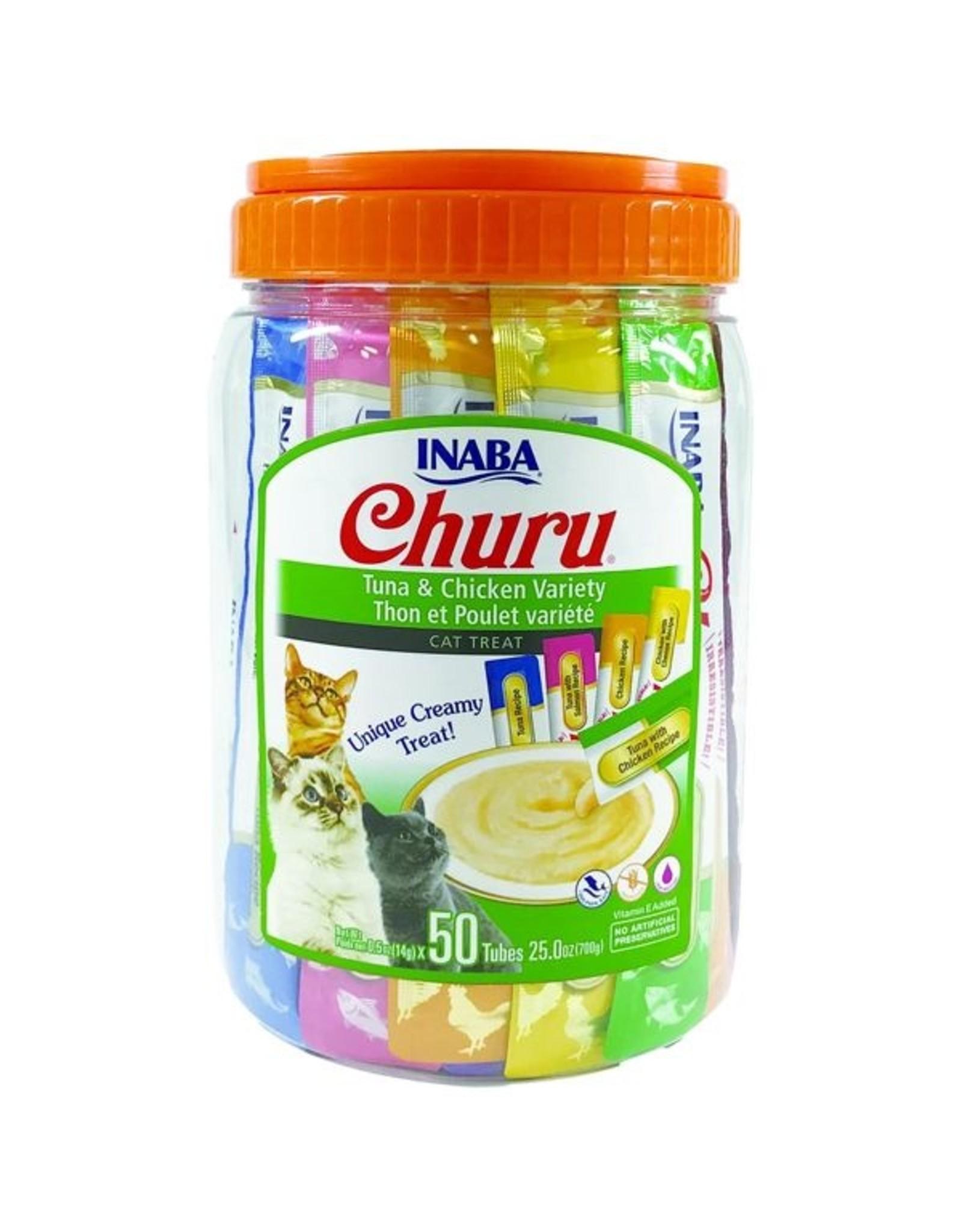 Inaba Inaba Churu Tubes Tuna and Chicken Cat Treats Variety Pack 50 Tubes