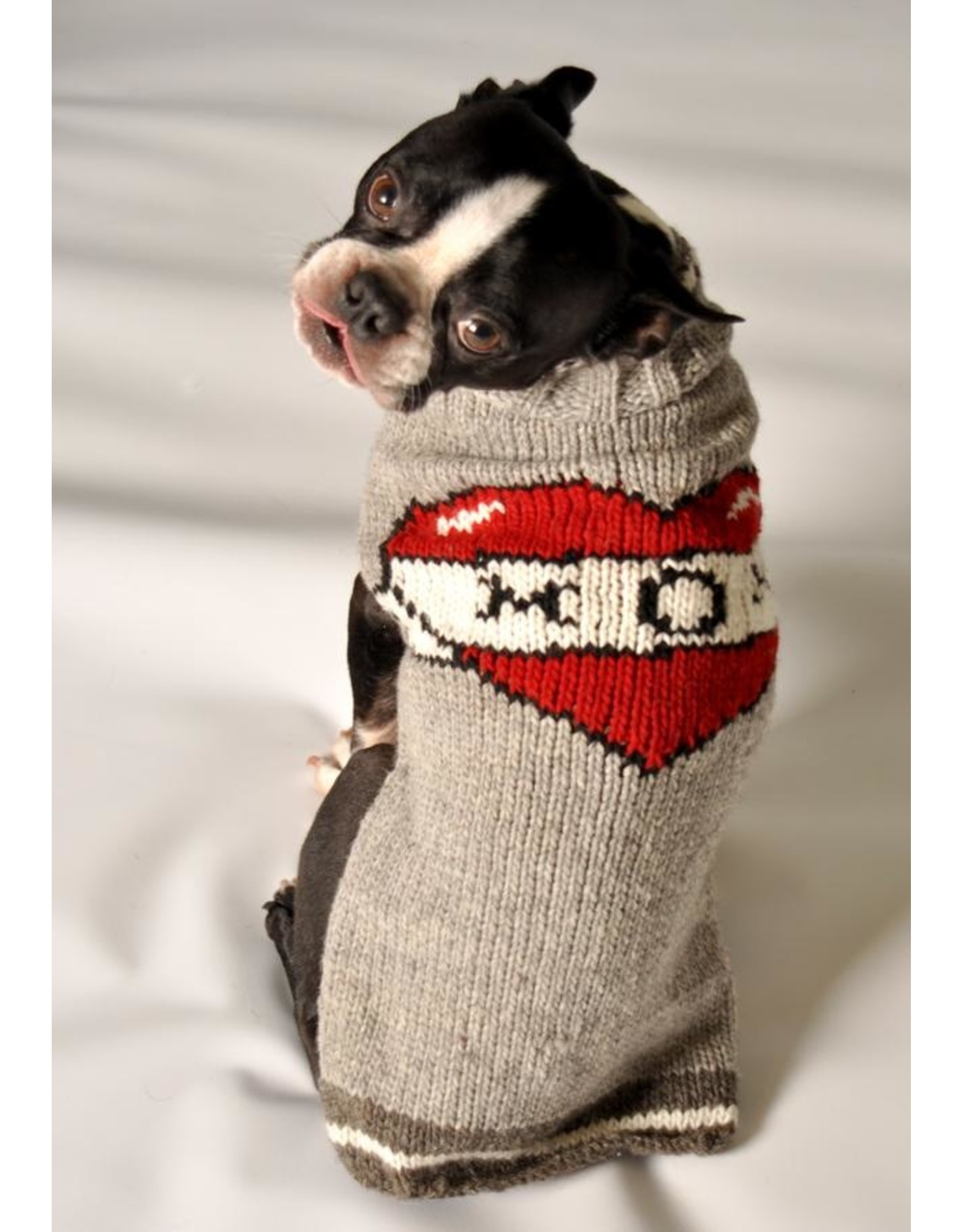 Chilly Dog Tattoo Mom Hand Knit Fair Trade Dog Wool Sweater