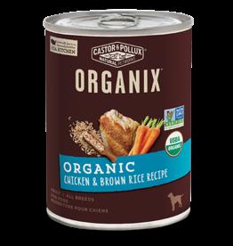 Castor & Pollux Organix Dog Can Chicken & Brown Rice 12.7oz