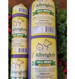 Albrights Albrights Frozen Raw Beef Chub 2lb