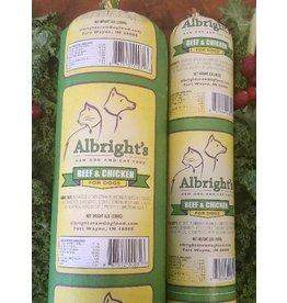 Albrights Albrights Frozen Raw Beef Chicken Chub 2lb