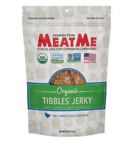 Meat Me Pet Food MeatMe Tibbles Organic Turkey Jerky 4oz