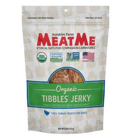 Meat Me Pet Food MeatMe Tibbles Organic Turkey Jerky 4oz