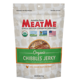 Meat Me Pet Food MeatMe Chibbles Organic Chicken Jerky 4oz