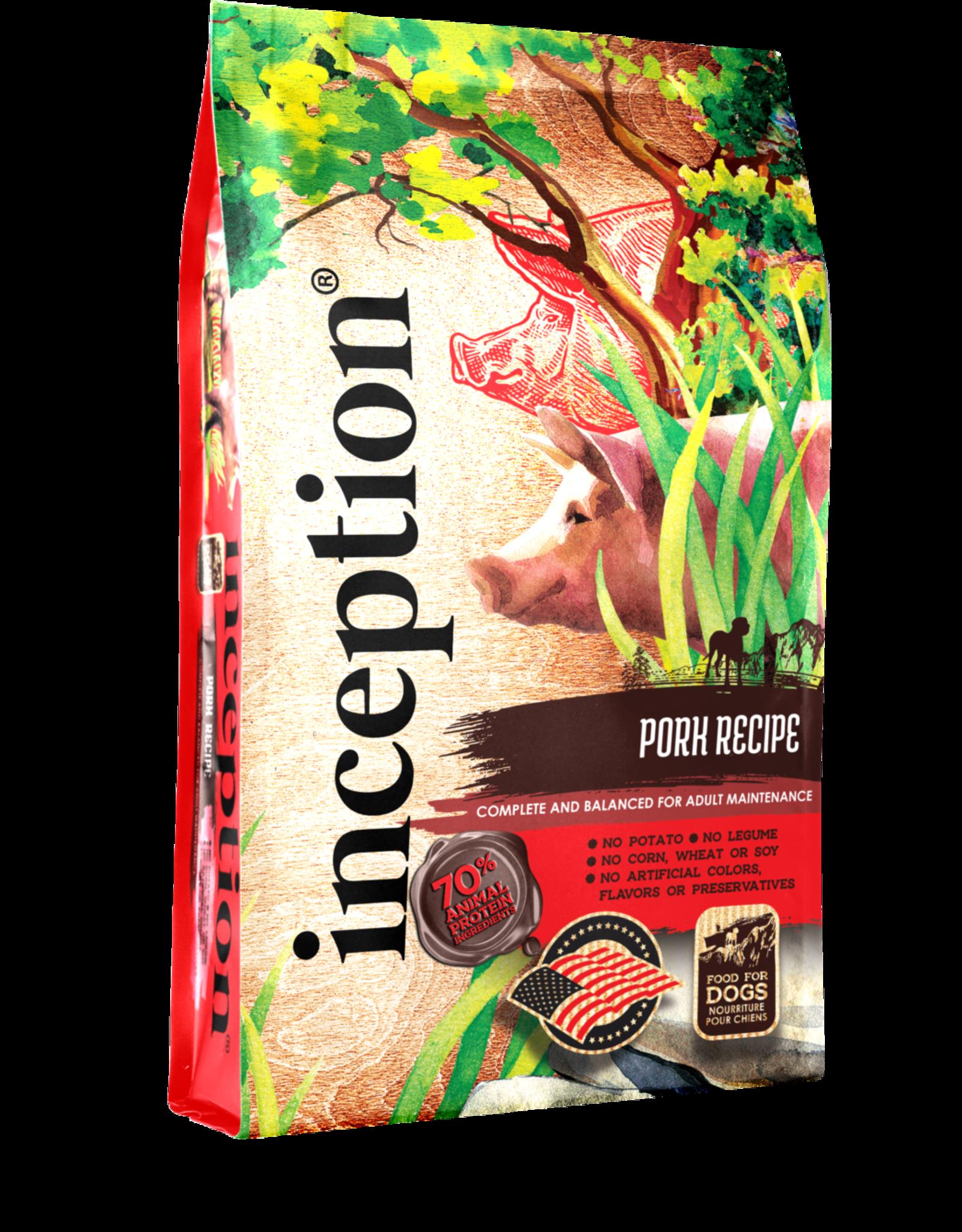 Inception Inception Dry Dog Food Pork Recipe Grain Inclusive